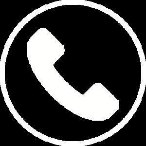 אייקון לבן על רקע שקוף של טלפון